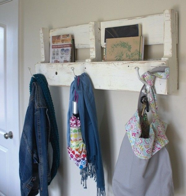 Diy Recycling Holz Paletten Coat Rack Ideen Palettenholz Diy