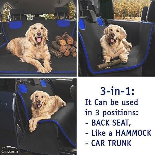 Dog Seat Covers-Pet Seat Covers-Dog Car Seat Covers for Dogs-Dog Hammock-Pet Car Seat Covers for Pets-Car Seat Hammock-Back Seat Covers for Small and Large Dogs for Trucks- SUVs WaterProof Durable