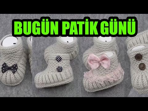 DIY- EN KOLAY ÖRGÜ PATİK - EASIEST KNITTED SLIPPERS EVER - YouTube