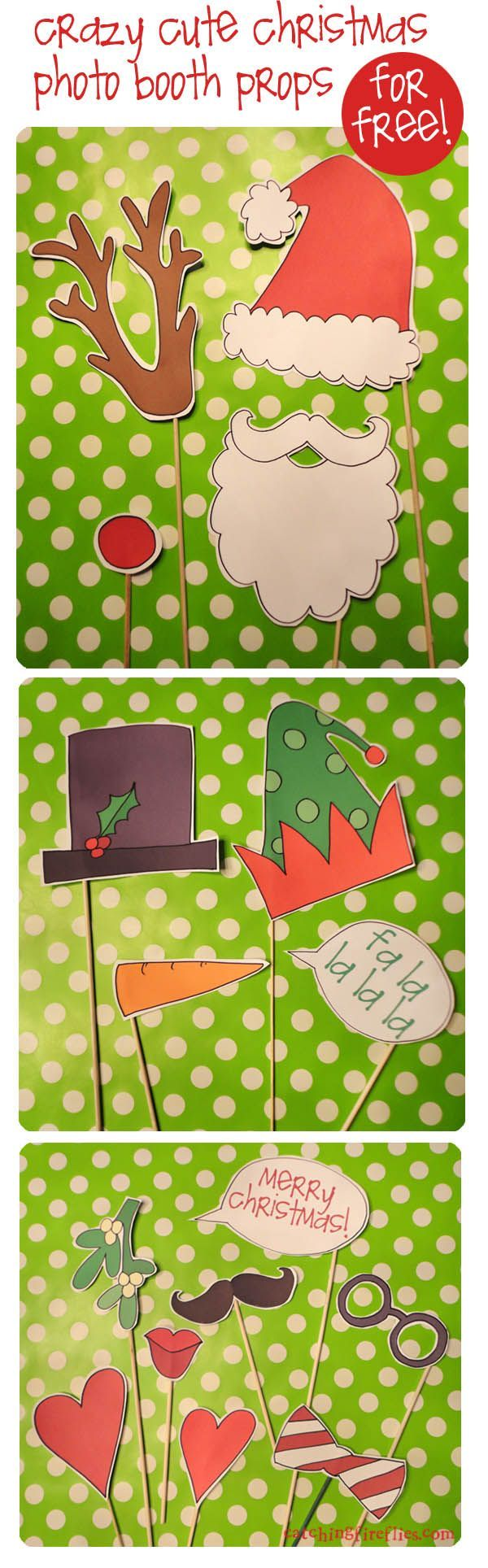 Free Printable SUPER Christmas photo booth props