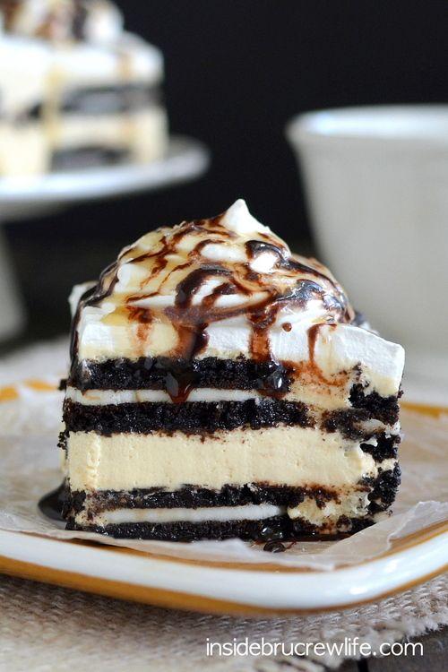 Salted Caramel Oreo Icebox Cake photo