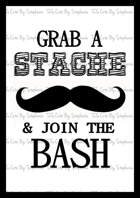 Grab A Stache & Join The Bash Poster by TuTuCuteByStephanie