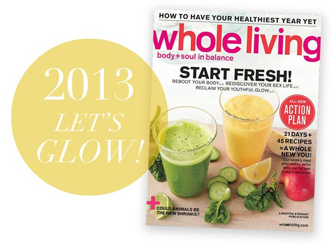 Sarah's brilliant detox week for WHOLE LIVING!