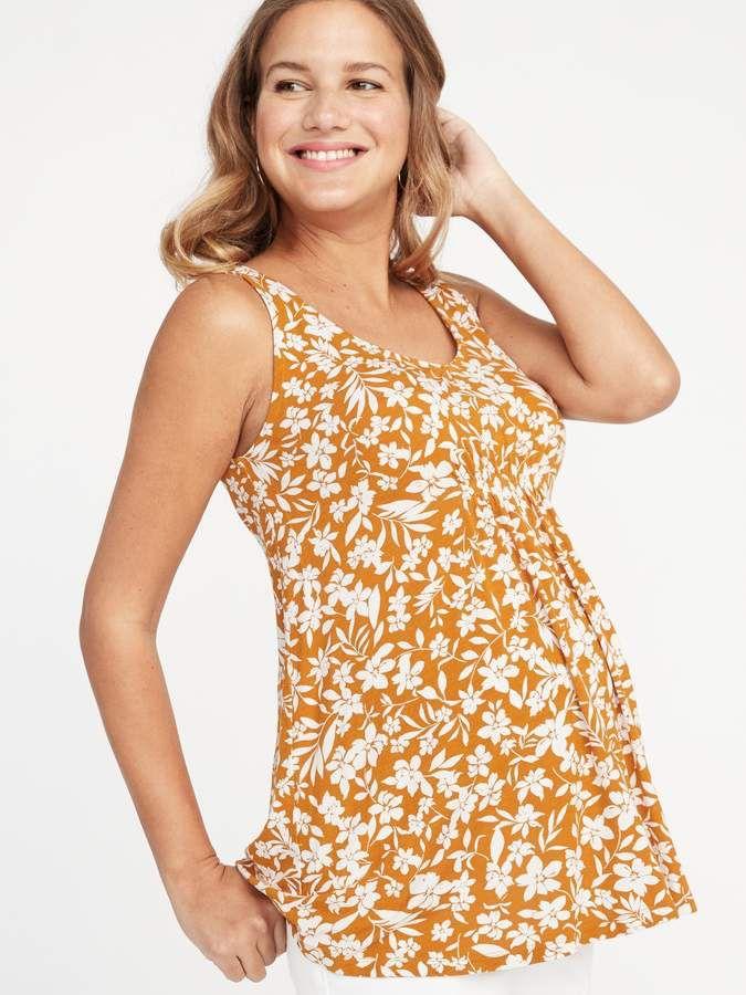 ed29351e8 Maternity Floral-Print Jersey Swing Tank  ad