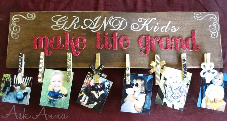Gift Idea: Photo Clipboard  love love love this!  will be doing it for all the grandparents this year!