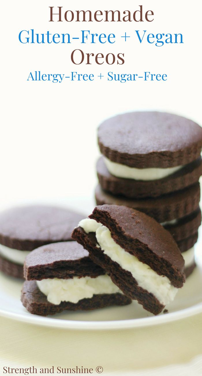 Homemade Gluten Free Vegan Oreo Cookies Allergy Free Sugar