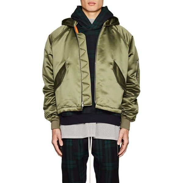 Fear Of God Men S Satin Insulated Hooded Bomber Jacket 1 330 Chf Liked On Polyvore Featuring Men S Fashion Bomberjacke Steppjacke Herren Grune Bomberjacke