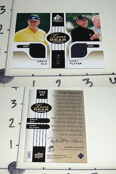 Golf Cards 4240: 2012 Sp Authentic Golf Ernie Els And Gary Player Dual Tourney Used Shirt # 35 Pga -> BUY IT NOW ONLY: $39.5 on eBay!