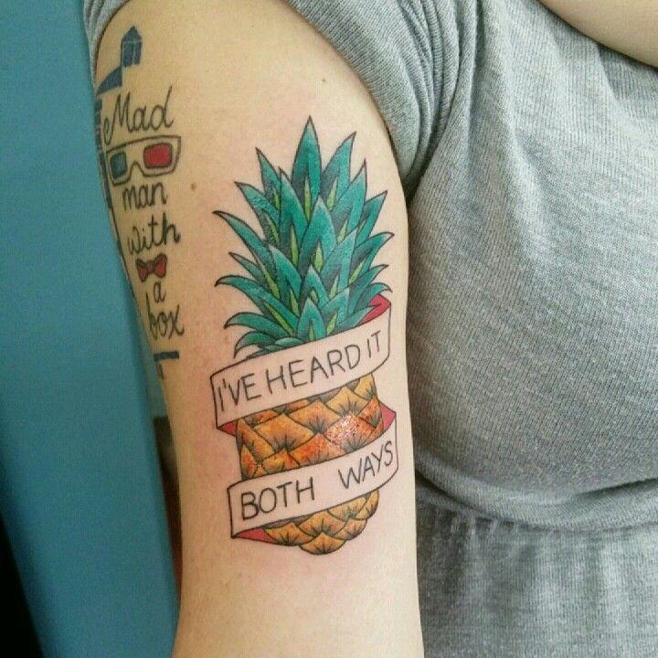 Psych Pineapple tattoo