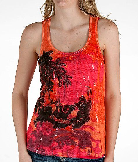 Daytrip Palm Tree Print Tank Top from Buckle