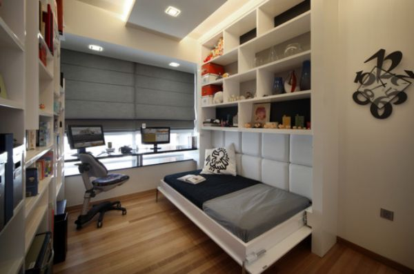 Storage Ideas For A Boy's Bedroom: Small Bedrooms, Bedrooms Design, Murphy Beds, Small Spaces, Guest Rooms, Beds Design, Home Offices, Bedrooms Ideas, Modern Bedrooms