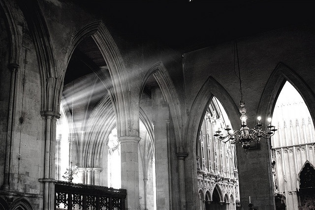 St. Albans Cathedral, England - I used to have tea and watermelon in the woman's exchange here every day for a summer.