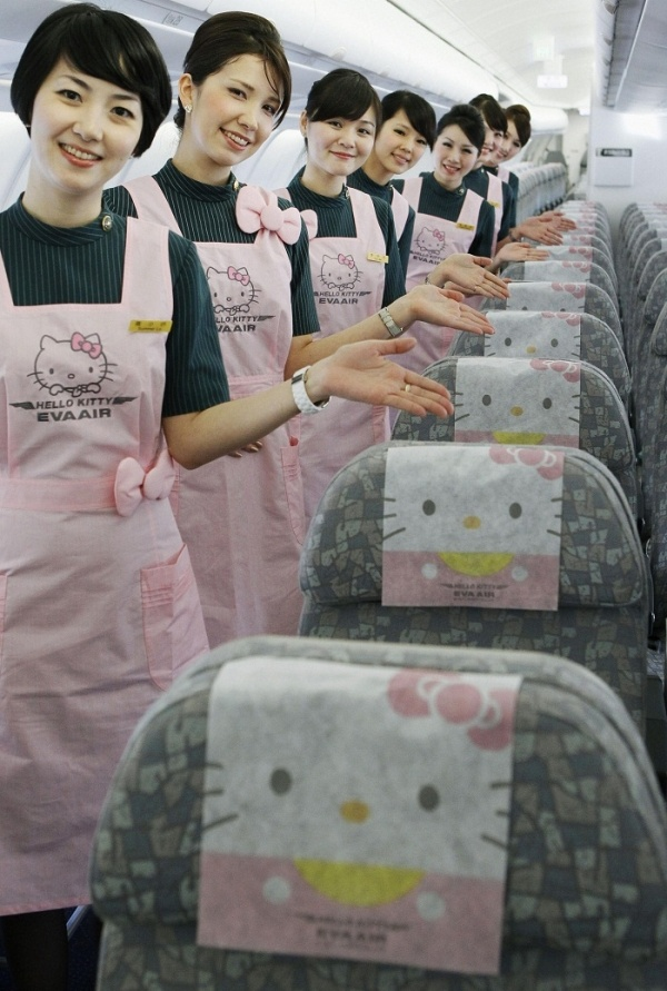 Eva Airways Hello Kitty Themed Airplanes Take Over Taiwan [PHOTOS]