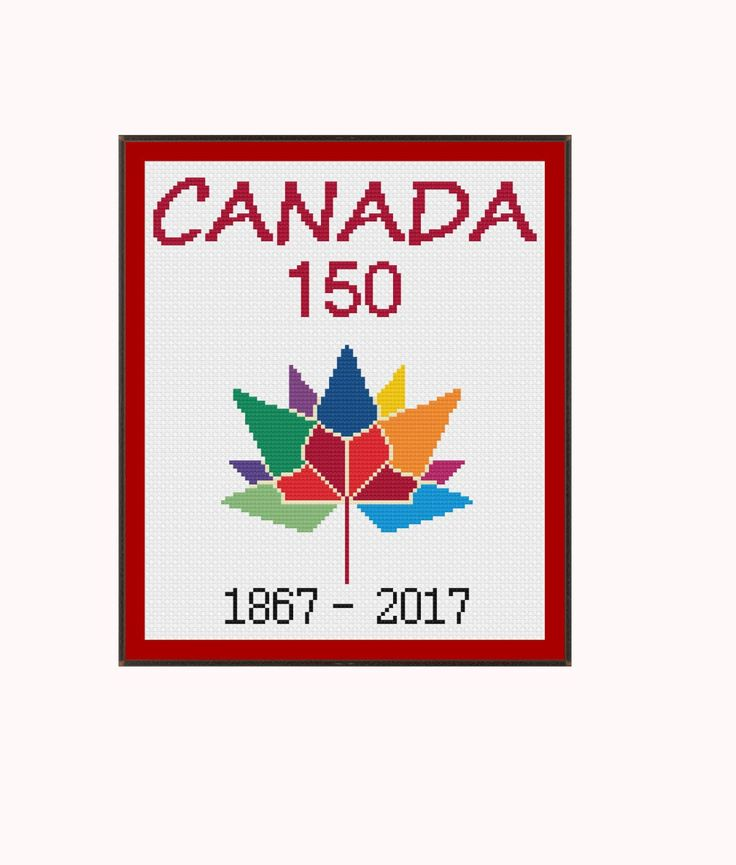 Canada 150 Logo by StitcherzStudio on Etsy
