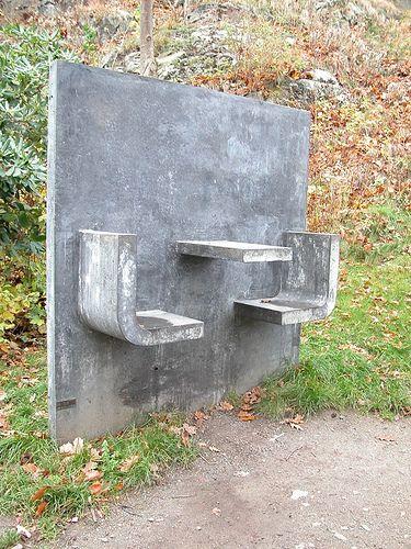 Concrete seating, Gothenburg by cloudberrynine, via Flickr
