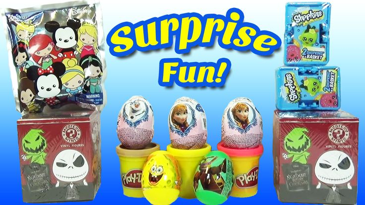 www.youtube.com/user/disneytoybox?sub_confirmation=1 DisneyToyBox presents Frozen Surprise Eggs Disney Blind Boxes Shopkins Blind Baskets and More Huevos Sorpresa Toys. In this video we get to open a bunch of different Surprise Eggs, Blind Bags, Blind Boxes, and Shopkins. There is also a Surprise for those that watch all the way till the end! #Shopkins #Surprise #Toys #Eggs #Frozen #Anna #Elsa #SpongeBob