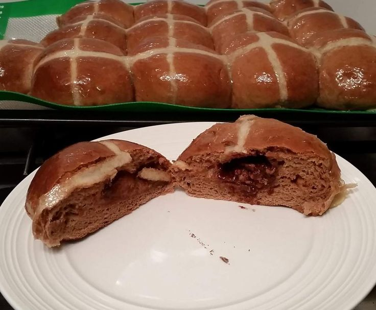 Recipe surprise hot choc cross buns by Kirboxx