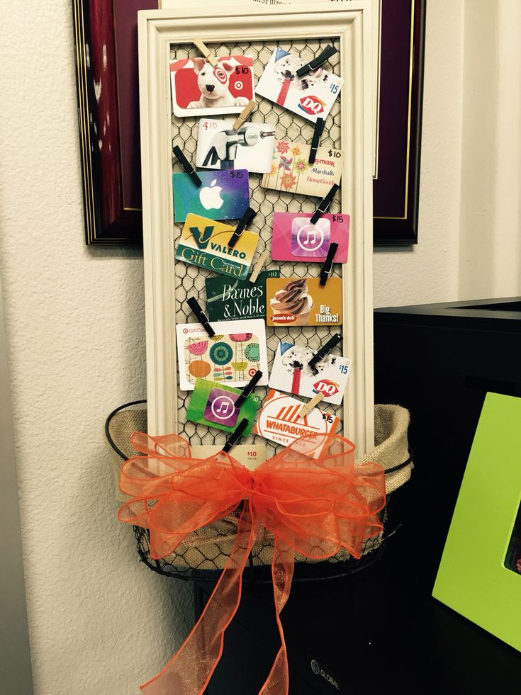 Gift card silent auction basket