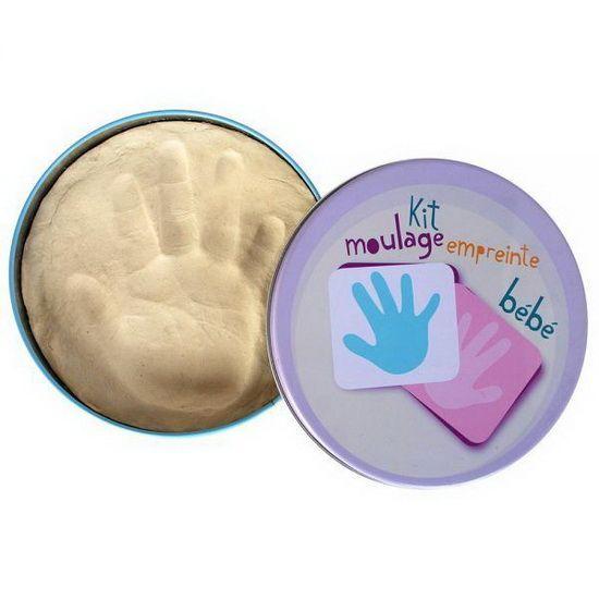 Coffret empreintes bébé Vous cherchez une idée de cadeau? Gardez un souvenir original de votre bébé: prenez l'empreinte de son pied ou de sa main. #renaudbray #bébé #cadeaunaissance