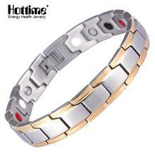 US $9.00 Hottime New Fashion Men's Germanium Titanium Steel Bracelet Bracelet Bangle For Men Health Bio Energy Power Antifatigue Jewelry. Aliexpress product