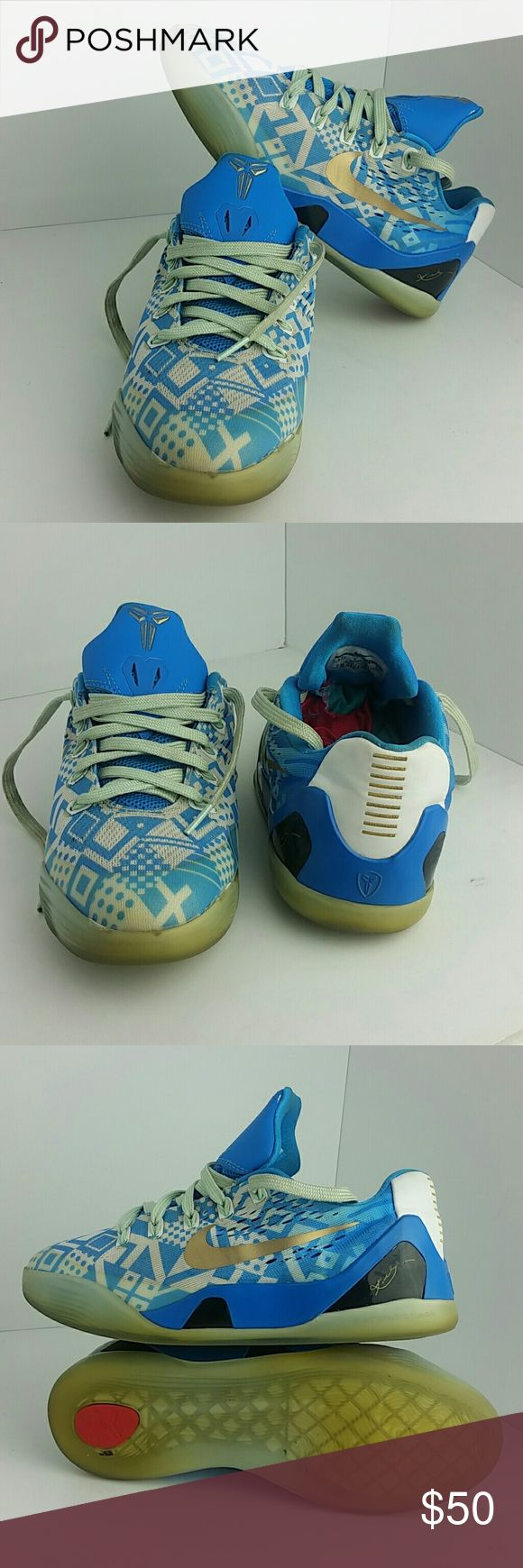 NIKE KOBE 9 IX WOMEN/YOUTH SHOES VERY CLEAN INSIDE-OUT   THIS IS A YOUTH SIZE 5.5Y WHICH IS WOMEN SIZE 7  SKE # AB NIKE  Shoes Athletic Shoes