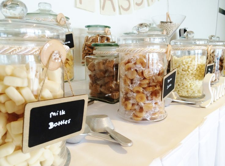 How sweet is this candy bar by @Beedazzled Events . Milkos, caramels, butterscotch and white chocolate. What a delicious combination!