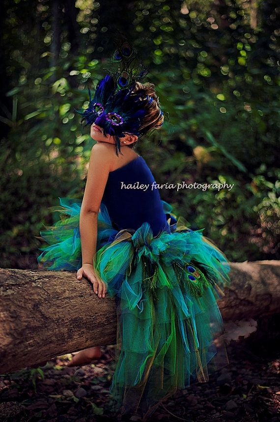 Toddler Peacock Feather Bustle Tutu...Pageant by TutuGorgeousGirl