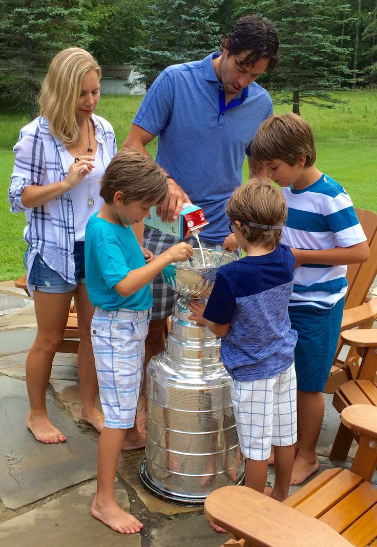 Now this is the breakfast of champions. Matt Cullen shared his day with the Stanley Cup with his family in Detroit Lakes, MN.