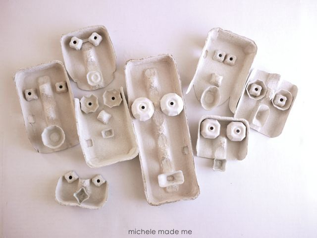 Egg Cartons Masks