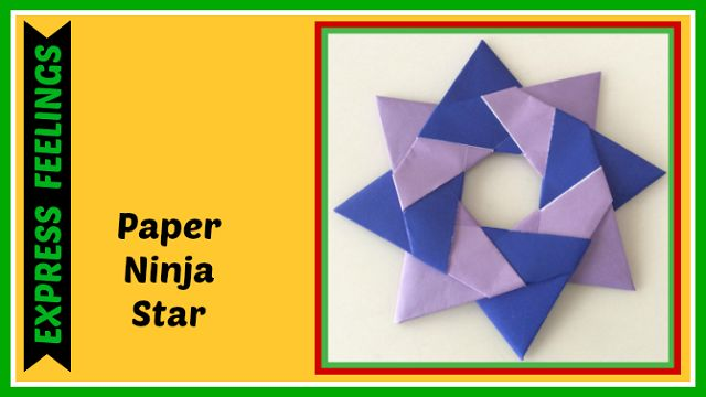 how to make a paper ninja star youtube