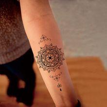 Временные татуировки водонепроницаемые поддельные татуировки рукавом цветочным узором укол тотем татуировки наклейки женщины тела краска harajuku maquiagem(China (Mainland))