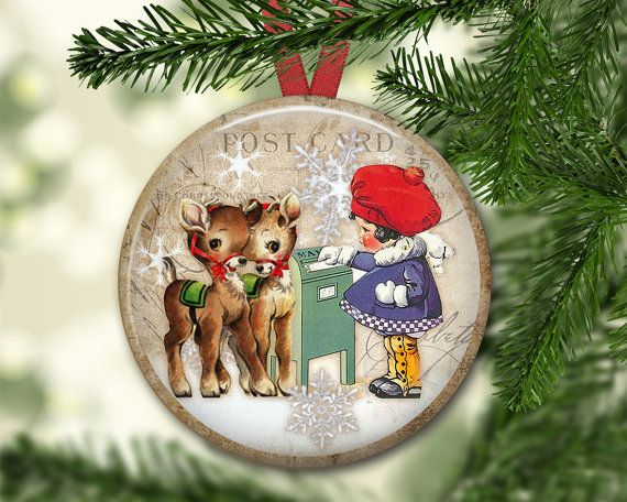 Reindeer ornaments for Christmas tree - Reindeer Christmas decorations for the tree.