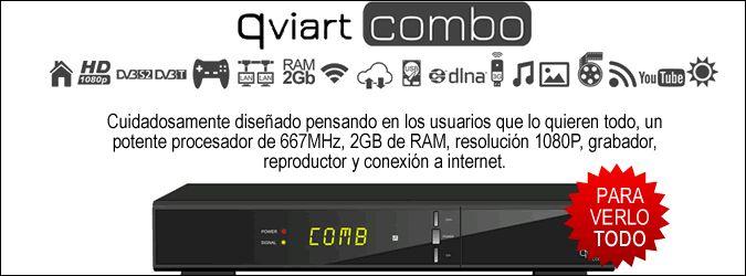 #ReceptorCombo #Satelite-TDT HD #Qviart Combo (IKS)...Qviart COMBO es el receptor de satélite y TDT con el que tendrás todo lo que necesitas en un solo decodificador, con un diseño y una calidad de imagen a la altura de los más exigentes.  http://www.opirata.com/receptor-combo-satelitetdt-qviart-combo-p-24346.html?utm_source=home&utm_medium=ba&utm_campaign=qviart_combo_home