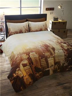 New York City Scape Double Duvet Cover and Pillowcase Set