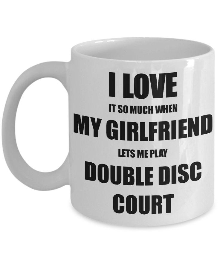 Double Disc Court Mug Funny Gift Idea For Boyfriend I Love It When My Girlfriend Lets Me Novelty Gag Sport Lover Joke Coffee Tea Cup