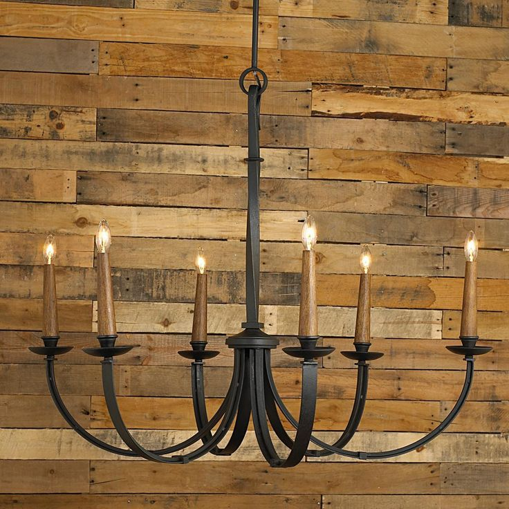 Modernized Rustic Iron Chandelier - Large - Shades of Light