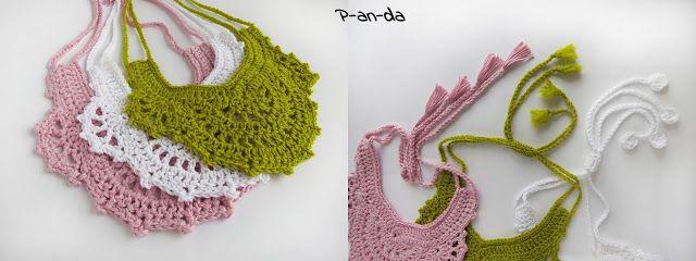crochet necklake P-an-da: Вязаная бижутерия...ожерелье