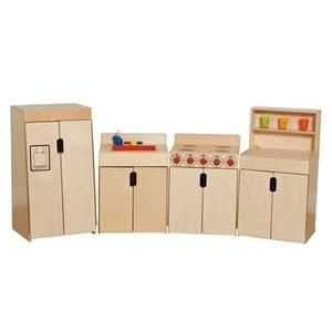 Tip Me Not Deluxe Play Kitchen From Wood Designs Wood Designs Plays