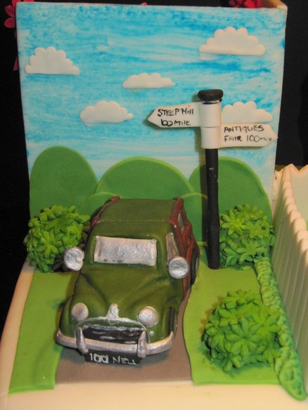 morris minor (all icing)  Cake by dandkcreativecakes