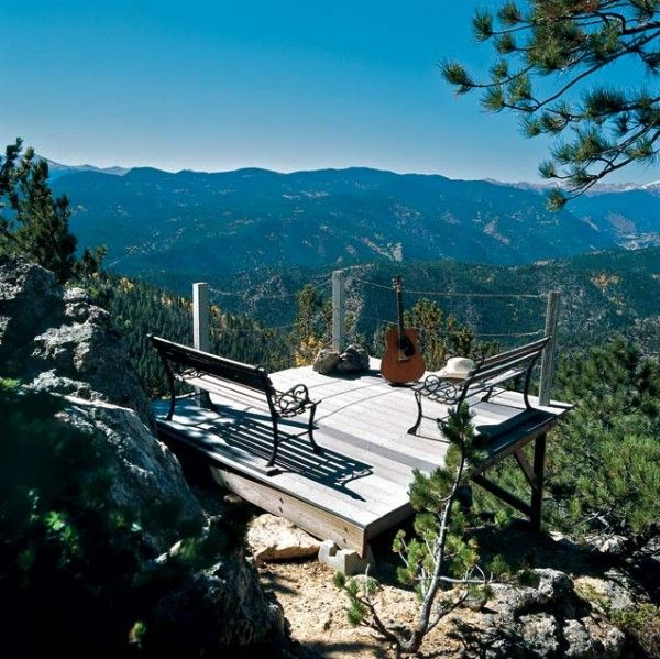 What a mountain cabin view