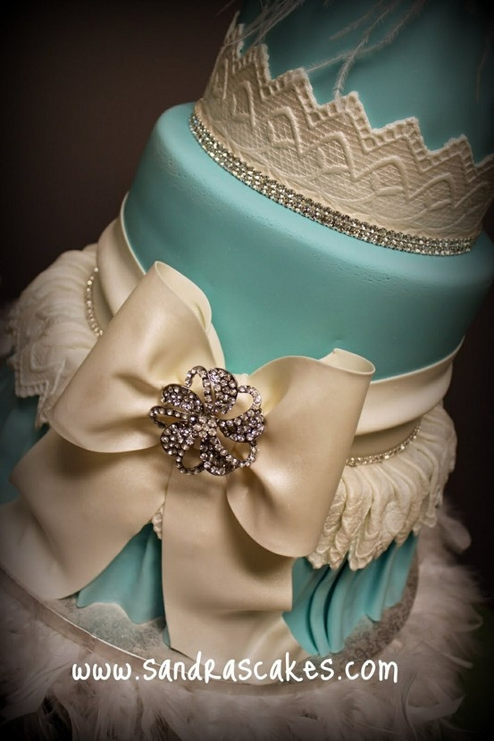 Tiffany Teal with bow