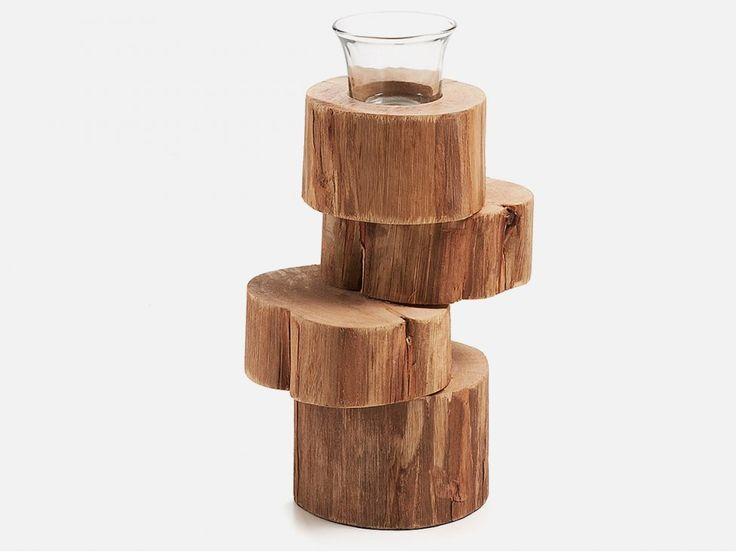 Świecznik Lua I — Świeczniki LaForma — sfmeble.pl  #wood  #natural  #homedesign