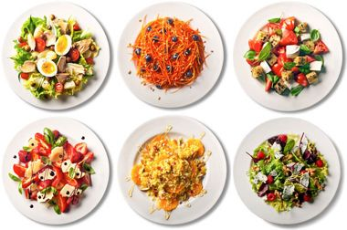 hey bikini boot campers! check out these 101 simple salads
