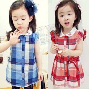 Aliexpress.com : Buy B Free Shipping 2013 Wholesale Plaid Dress Children Cherry Kids Clothes Dresses for Girls Children's Wear Clothing from Reliable dress children suppliers on beike's store