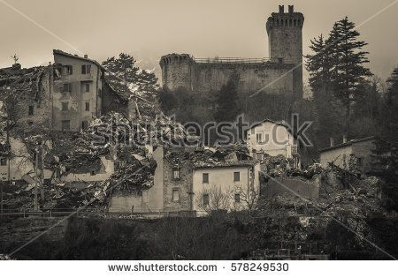 Ruins of Arquata del Tronto medieval village in the marche region #ArquataDelTronto #Earthquake #Castle #Fortress #Marche #Wanderlust #Italy #Ruins #Collapse #Crack #Destroyed #Terrific #Terremoto #Central #Buildings