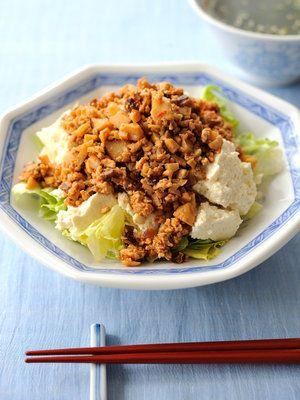 【ELLE a table】豆腐の中華風そぼろあんかけレシピ|エル・オンライン