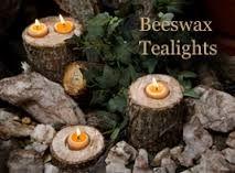 100% natural beeswax candles