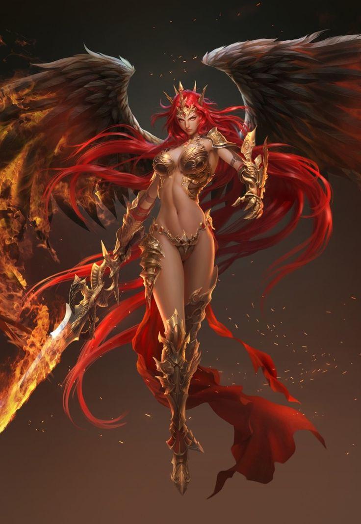 Angel de fuego a detalle