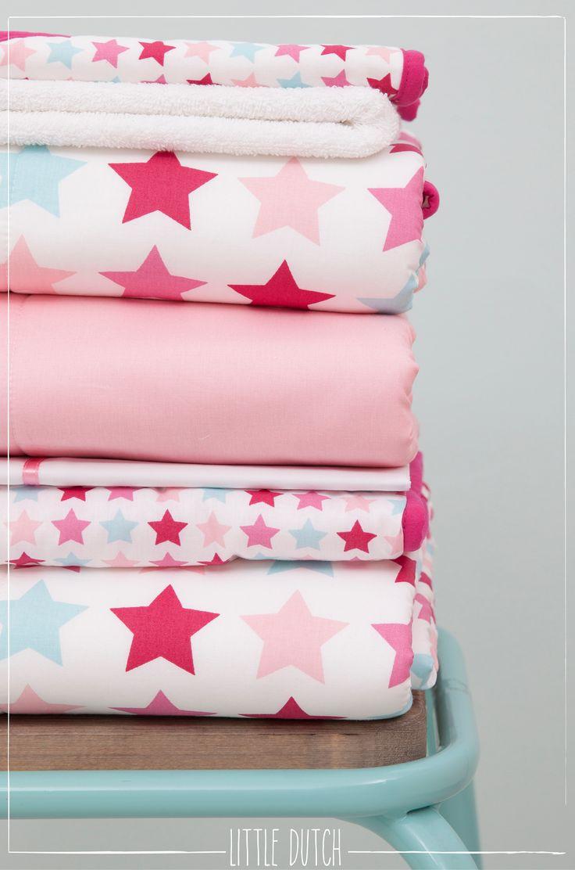 Little Dutch Mixed stars pink  #littledutch #little #dutch #pink #roze #stars #sterren #blankets #dekens #nursery #kinderkamer