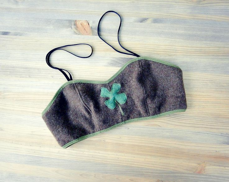 Lucky Clover pure cashmere bralette by Econica. Custom made in your size! :)  www.econica.etsy.com